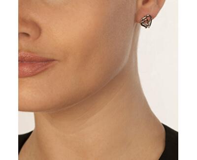 Dámské bicolor náušnice Hot Diamonds Love DE532