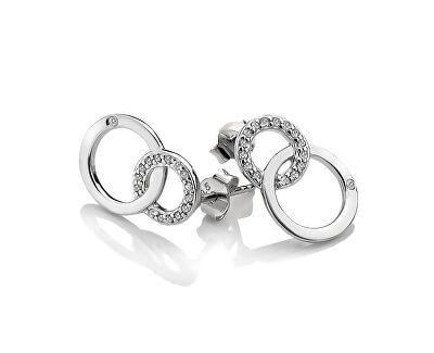 Stříbrné náušnice Hot Diamonds Love DE533
