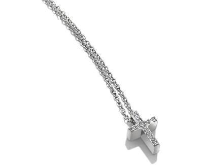 Stříbrný náhrdelník s křížkem Micro Bliss DP696 (řetízek, přívěsek)