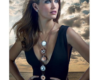 Stříbrný řetízek Emozioni Rose Gold Bead Chain 30 CH008