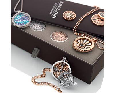 Stříbrný řetízek Emozioni Silver and Rose Gold Bead CH020