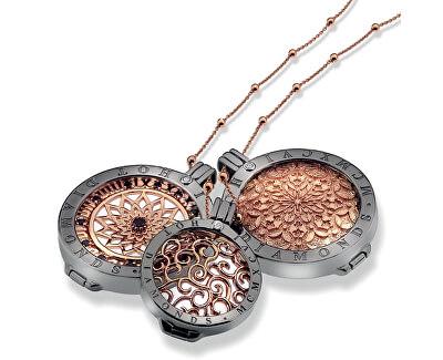 Stříbrný řetízek Emozioni Silver and Rose Gold Bead CH021