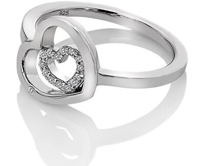 Stříbrný srdíčkový prsten Adorable Encased DR201