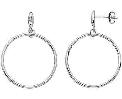 Stříbrné kruhové náušnice s diamanty Hoops DE631