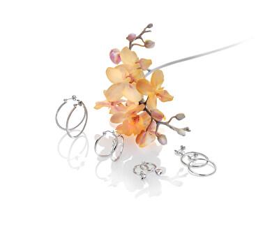 Stříbrné kruhové náušnice s diamanty Hoops Topaz DE623
