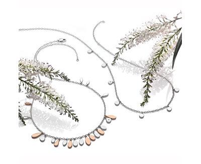 Stříbrný bicolor náhrdelník s diamantem Monsoon DN139