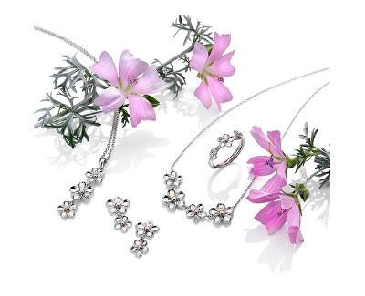 Stříbrný květinový náhrdelník Forget me not DP748