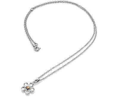 Stříbrný květinový náhrdelník Forget me not DP749