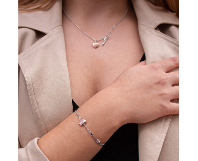 Stříbrný náhrdelník s diamantem Cupid DP751