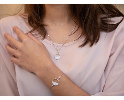 Stříbrný náhrdelník s diamantem Horizon Topaz DP766