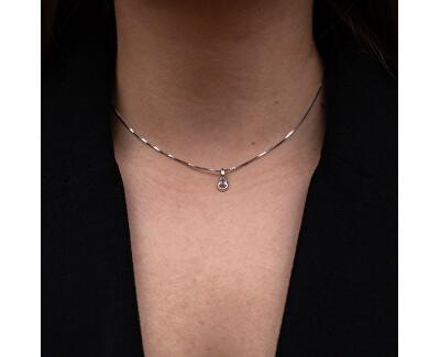 Stříbrný náhrdelník pro narozené v lednu Birthstone DP754