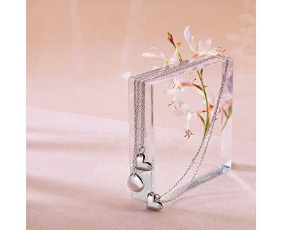 Stříbrný náhrdelník s pravým diamantem Iris DP702 (řetízek, přívěsek)