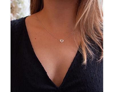 Ezüst nyaklánc szívvel Amulets DP747