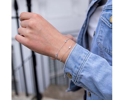 Stříbrný náramek pro narozené v prosinci Anais modrý Topaz AB012