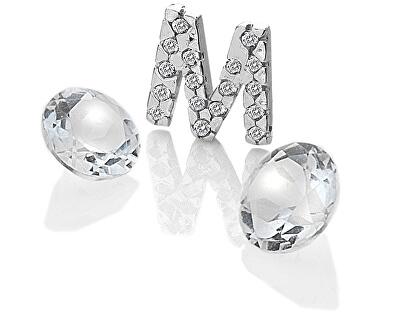 """Element písmeno """"M"""" s Topaz Anais EX232"""