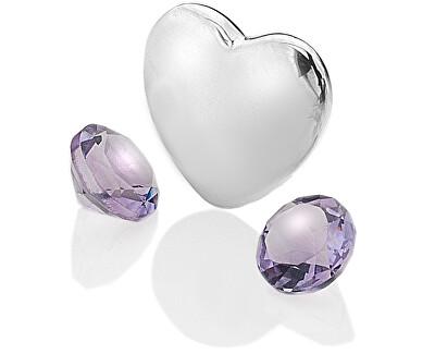 Element srdce s ametysty Anais Február EX121
