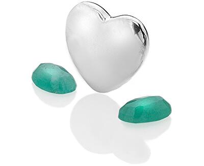 Element srdce sa smaragdy Anais Máj EX124