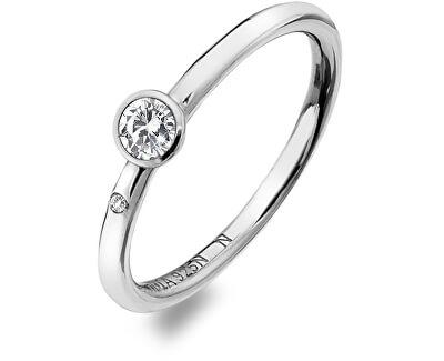 Luxusní stříbrný prsten s topazem a diamantem Willow DR206