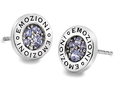 Hot Diamonds Strieborná náušnice Emozioni scintilla Lavender Calmess EE005