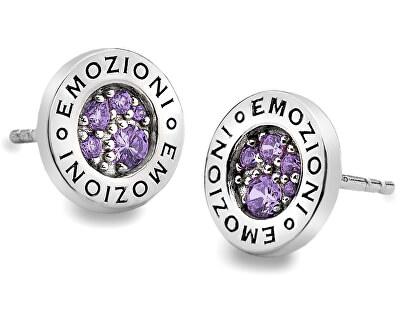 Hot Diamonds Strieborná náušnice Emozioni scintilla Violet Spirituality EE006