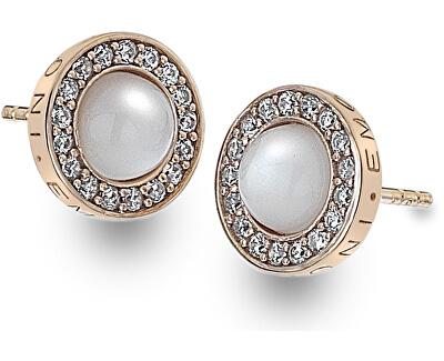 Hot Diamonds Stříbrné náušnice Hot Diamonds Emozioni Giove Pearl Rose Gold DE461