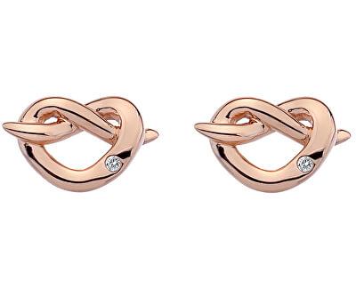 Hot Diamonds Stříbrné náušnice Hot Diamonds Infinity Heart Rose Gold DE451
