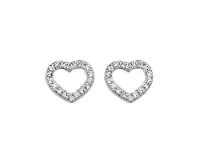 Hot Diamonds Stříbrné náušnice Hot Diamonds Love DE535