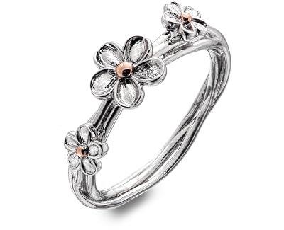 Stříbrný květinový prsten Forget me not DR214