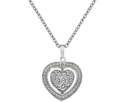 Hot Diamonds Stříbrný náhrdelník Hot Diamonds Turning Heart DP606
