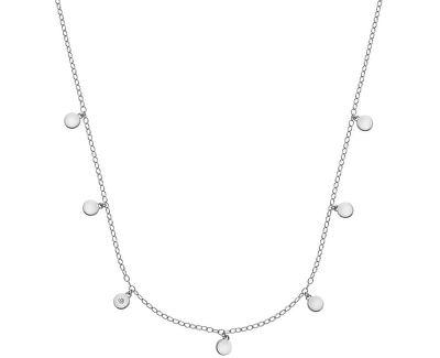 Stříbrný náhrdelník s diamantem Monsoon DN136