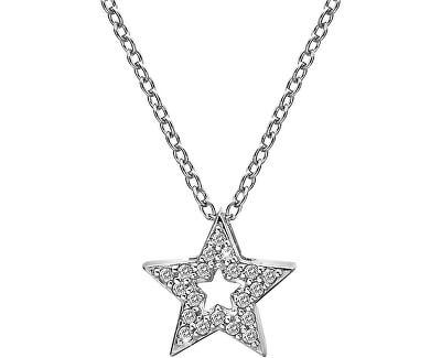 Stříbrný náhrdelník s hvězdičkou Micro Bliss DP697 (řetízek, přívěsek)