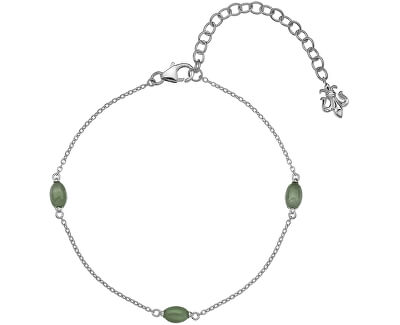 Stříbrný náramek pro narozené v březnu Anais Aventurín AB003