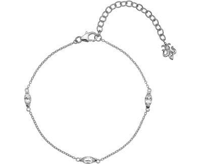Stříbrný náramek pro narozené v dubnu Anais bílý Topaz AB004