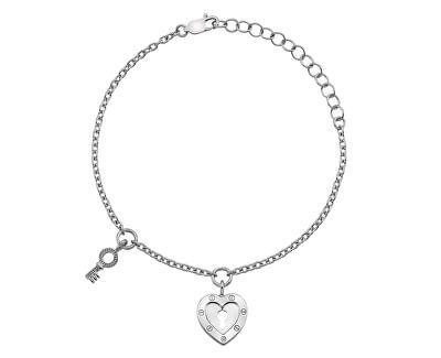 Hot Diamonds Stříbrný náramek Hot Diamonds Love DL560
