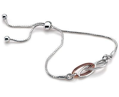 Hot Diamonds Strieborný náramok s diamantom Chandelier Vintage Rose zlaté DL557