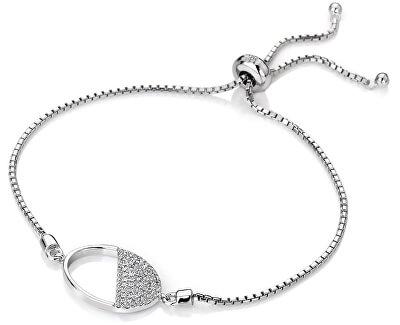 Stříbrný náramek s diamantem Horizon Topaz DL602