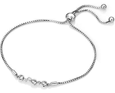 Stříbrný náramek s diamantem Tender DL607