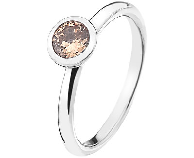 Hot Diamonds Strieborný prsteň Emozioni scintilla Champagne Loyalty ER016