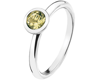 Hot Diamonds Strieborný prsteň Emozioni scintilla Peridot Nature ER019