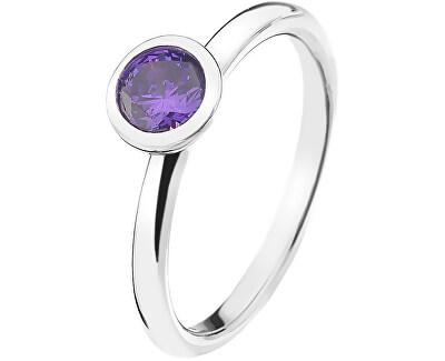 Hot Diamonds Strieborný prsteň Emozioni scintilla Violet Spirituality ER021