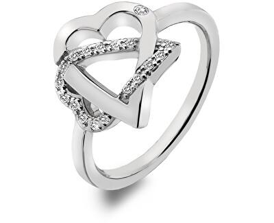 Stříbrný srdíčkový prsten Adorable DR203