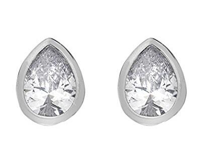 Třpytivé stříbrné náušnice Emozioni Acqua Amore EE038