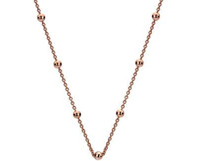 Hot Diamonds Stříbrný řetízek Emozioni Rose Gold Cable with Ball CH004