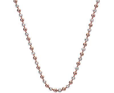 Hot Diamonds Stříbrný řetízek Emozioni Silver and Rose Gold Bead 45 CH019