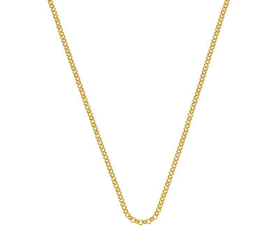 Stříbrný řetízek Emozioni Yellow Gold Belcher Chain 30 CH011