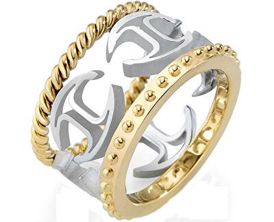 Just Cavalli Ocelový bicolor prsten Just Pure SCAGE03