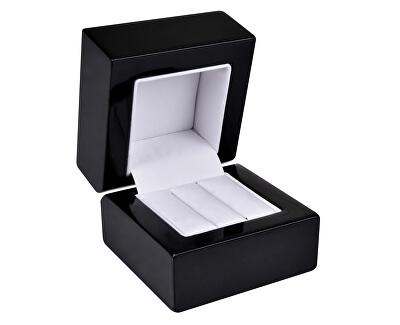 Dřevěná krabička na náušnice nebo snubní prsteny BB-2/NA/A25