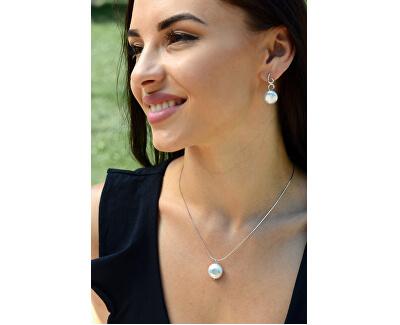 Elegantní perlové náušnice s krystaly JL0403