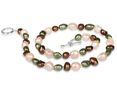 Náhrdelník z pravých multibarevných perel JL0367
