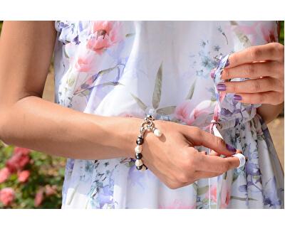 Náramek z pravých perel ve dvou odstínech JL0317